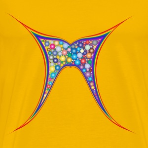Abstract Rainbow Butterfly - Men's Premium T-Shirt