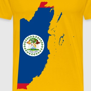 Belize Map Flag - Men's Premium T-Shirt