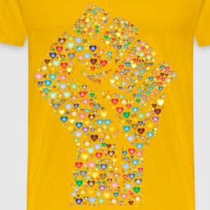 Colorful Fist Of Love 3 - Men's Premium T-Shirt