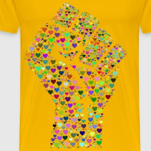Colorful Fist Of Love - Men's Premium T-Shirt