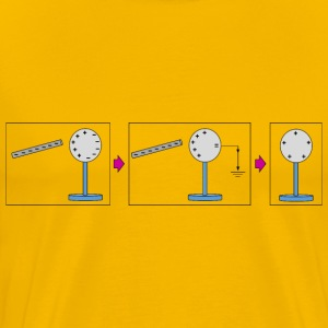 Physic diagram: charging by induction - Men's Premium T-Shirt
