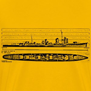 Asashio Battleship - Men's Premium T-Shirt