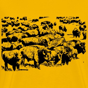 Buffalo herd - Men's Premium T-Shirt