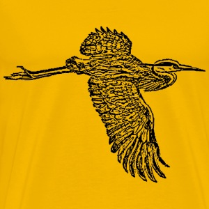 great blue heron in flight - Men's Premium T-Shirt