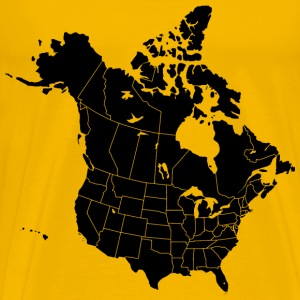 North America with states and provinces - Men's Premium T-Shirt