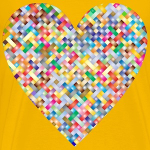 Colorful Heart Lattice Weave 3 - Men's Premium T-Shirt