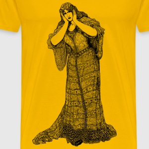 Lady in dress - Men's Premium T-Shirt