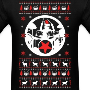 Drummer Ugly Christmas Sweater - Men's T-Shirt