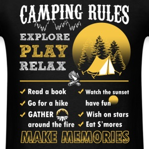 Camping rules - Time to relax and explore - Men's T-Shirt