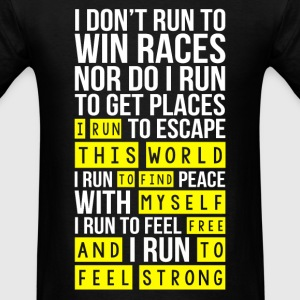Marathon - I run this world to find myself free - Men's T-Shirt