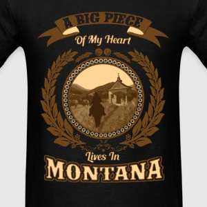 Montana - A big piece of my heart - Men's T-Shirt