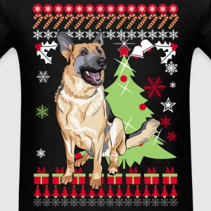German Shepherd Chirstmas Sweater shirt - Men's T-Shirt