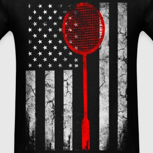 USA Badminton lovers - Badminton Flag - Men's T-Shirt