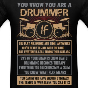 Drummer play air drums any time, anywhere - Men's T-Shirt