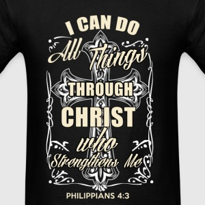Christ who strengthen me t-shirt - Men's T-Shirt