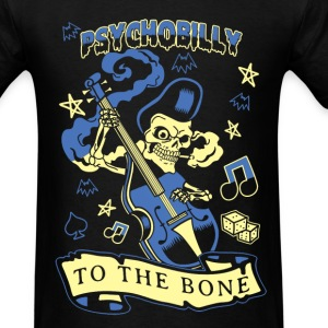 Psychobilly to the bone T - shirt - Men's T-Shirt