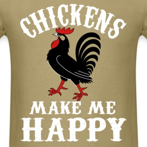 Chicken lover - Chickens make me happy - Men's T-Shirt
