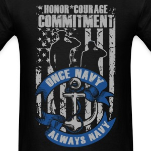 American Navy - Honor, courage, commitment - Men's T-Shirt