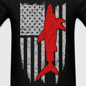 Shark flag t-shirt for American - Men's T-Shirt