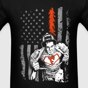 Firefighter Flag shirt for Volunteer Firefighter - Men's T-Shirt