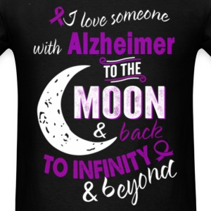 Alzheimer - I love someone with Alzheimer t - shir - Men's T-Shirt
