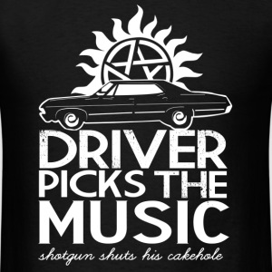 Supernatural - Driver picks the music cool t - shi - Men's T-Shirt