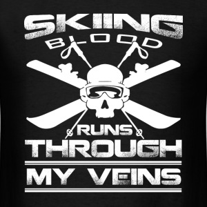 Skiing - The blood runs through my veins t-shirt - Men's T-Shirt
