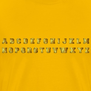 Bronze Alphabet With Drop Shadow - Men's Premium T-Shirt