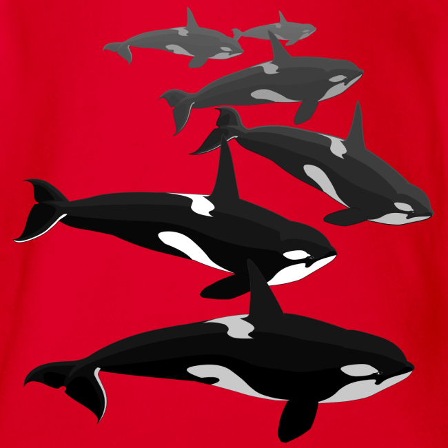 Orca Whale Baby Bodysuit Killer Whale Baby One-piece