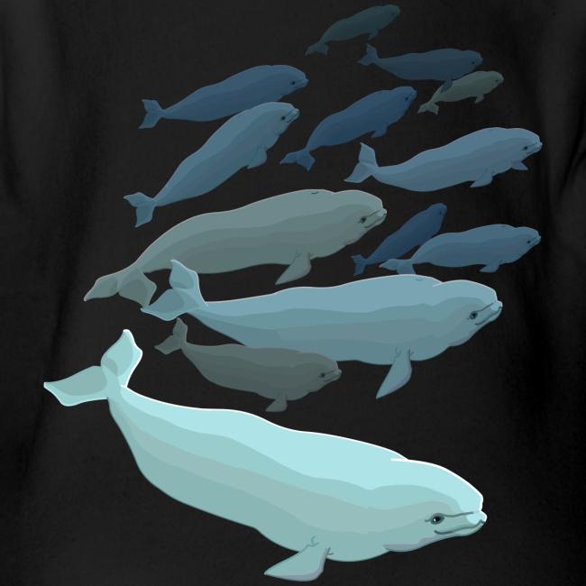 Beluga Whale Bodysuit Baby Beluga One-piece