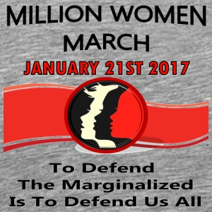 Million Women March On Washington DC 01-21-2017 - Men's Premium T-Shirt