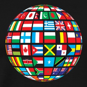 World Flags Design - Men's Premium T-Shirt