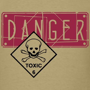 danger toxic_vec_2 us T-Shirts - Men's T-Shirt