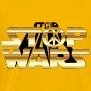 Stop Wars Gold With Shadow - Men's Premium T-Shirt