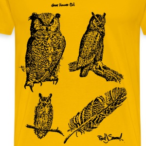Great horned owls - Men's Premium T-Shirt
