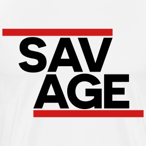 SAVAGE WHITE - Men's Premium T-Shirt
