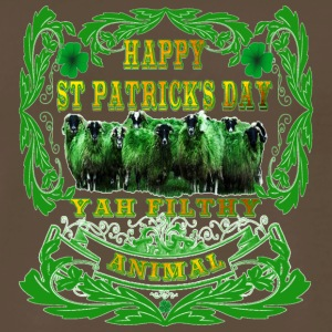 Happy St Patrick's Day Yah-Filthy-Animal - Men's Premium T-Shirt