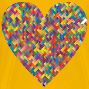 Colorful Heart Lattice Weave 5 - Men's Premium T-Shirt