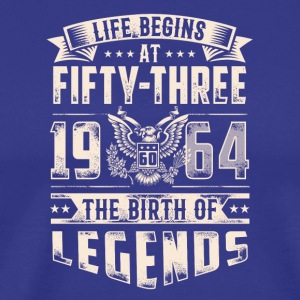 Life Begins At Fifty Three Tshirt - Men's Premium T-Shirt
