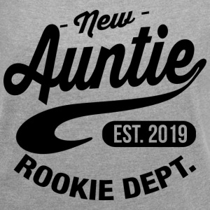 New Auntie 2019 T-Shirts - Women´s Roll Cuff T-Shirt