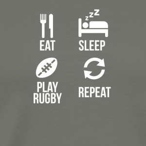 eat sleep play rugby - Men's Premium T-Shirt