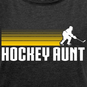 Hockey Auntie T-Shirts - Women´s Rolled Sleeve Boxy T-Shirt