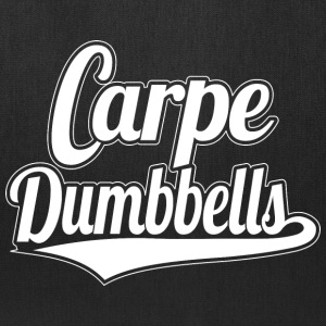 Fitness Motivation Carpe Dumbbells Black Tote - Tote Bag