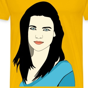 Young Lady Portrait - Men's Premium T-Shirt