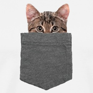 Cat in the pocket - Men's Premium T-Shirt