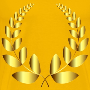Gold Laurel Wreath 4 No Background - Men's Premium T-Shirt