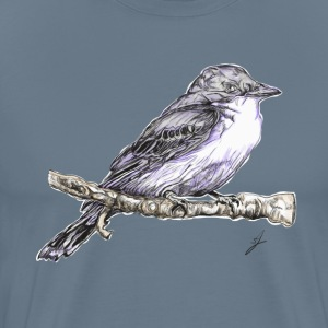 bird on a branch - Men's Premium T-Shirt
