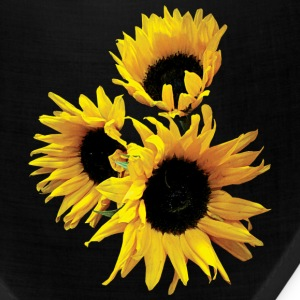 Three Yellow Sunflowers Caps - Bandana