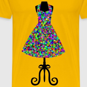 Low Poly Prismatic 1950s Vintage Dress - Men's Premium T-Shirt