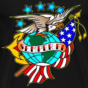 Eagle American Flag  Tattoo - Men's Premium T-Shirt